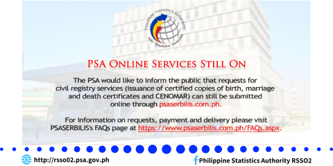 PSA Online Services Still On