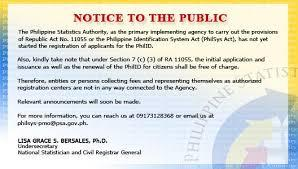 Notice to the Public on RA 11055